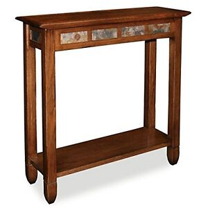 Leick Furniture 10059 Rustic Slate Hall Stand - Rustic Oak Finish