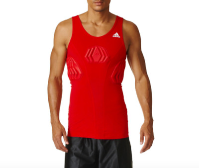 NEW Adidas Basketball Techfit Mens Padded Tank Top Red Size XLT $55 | eBay