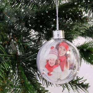 DIY Christmas Bauble Clear With Silver Top and Silver Hanging String