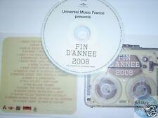 UNIVERSAL FIN D'ANNEE 2008 CD PROMO ZAZIE KEANE KILLERS