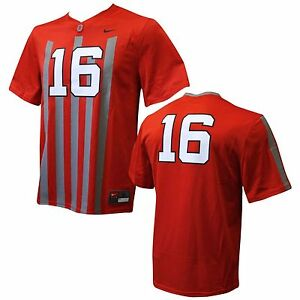 low priced 96972 5620b Ohio State Buckeyes #16 Blackout Youth Replica Football ...