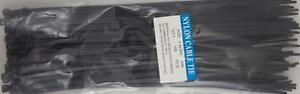 "12"" Black Nylon Cable Tie Zip Heavy Duty Plastic Wire - Pack of 100pcs"