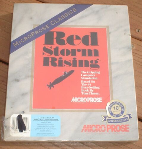 "1992 Tom Clancy/'s Red Storm Rising New Factory Sealed Big Box 3.5/"" /& 5.25/""  IBM"