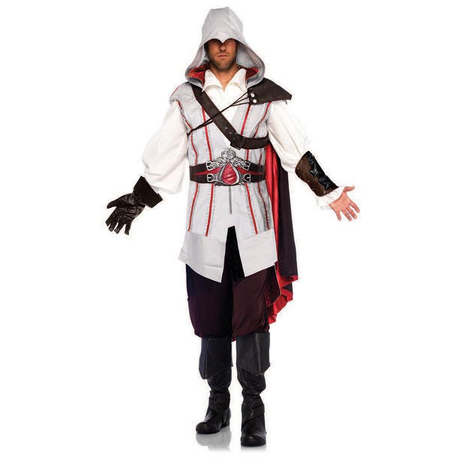 Assassin's Creed 8 Piece Ezio Deluxe Costume Cosplay For Men