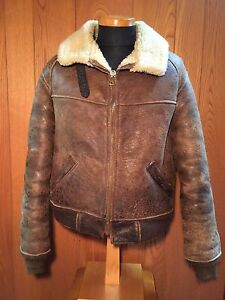 Free shipping VINTAGE AVIREX B6 BOMBER FLIGHT JACKET 40 SHEEP SKIN ...