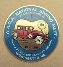 WINCHESTER, VA 1985 AACA SHENANDOAH REGION NATIONAL SPRING MEET DASH PLAQUE/SIGN
