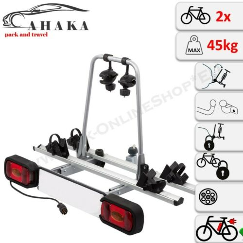AHIRO2 Fahrradträger für 2 Fahrräder abklappbar abschließbar vormontiert Alu