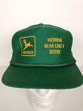 John Deere Green Snapback Trucker Cap Farmer Hat