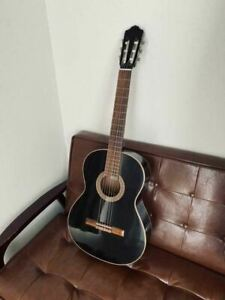 ALMANSA 403 Black Classical Acoustic Guitar Made in Spain Shipped from Japan
