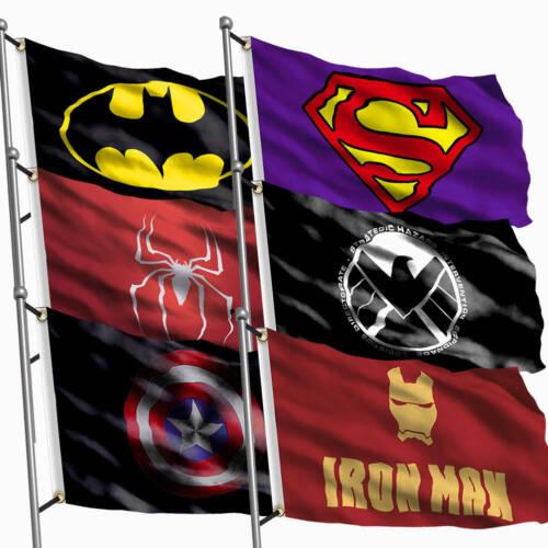 Fahnen Flagge Banner Superman Haus Wand Partei Dekoration 90 x 150cm DE 3x5ft