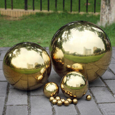 High Brightness Mirror Ball Mirror-Polished Hollowed Ball Garden Sphere Gazing Globe for Home Garden Party Ornament Decorations Stainless Steel Gazing Ball