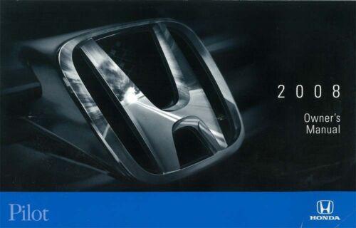 2008 Honda Pilot Owners Manual User Guide Operator Book Fuses Fluids OEM