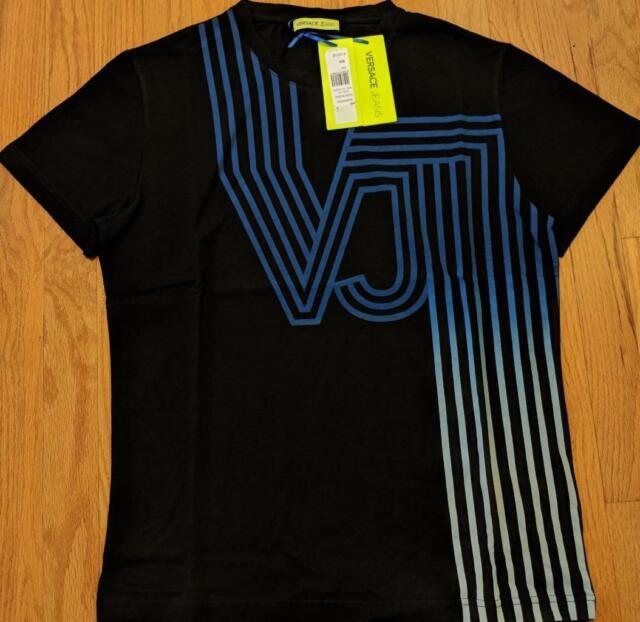 8c952d7187 Mens Authentic Versace Jeans VJ Logo T-shirt Black/blue XL
