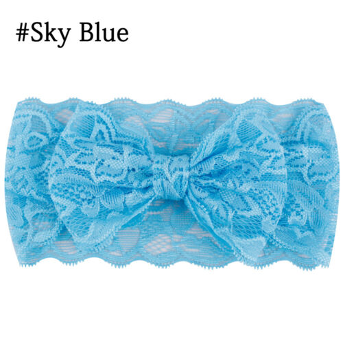 Toddler Baby Cute Girl Kids Elastic Lace Bowknot Hair Band Headband Headwear New