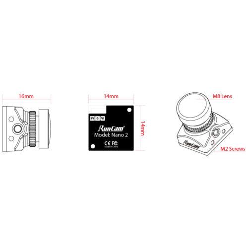 RunCam Nano2 Ultra FPV Micro Camera NTSC//PAL for RC Racing Drone DIY Quadcopter