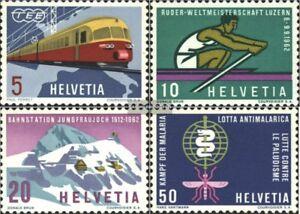 Schweiz-747-750-kompl-Ausgabe-gestempelt-1962-Elektro-TEE-Zuege