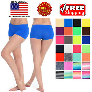 Two tone spandex micro shorts hot pants turquoise purple