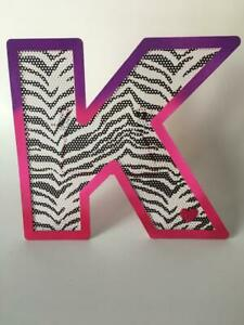 Tremendous Details About Justice Girls Zebra Print Letter K Initial Room Decor Pink K With Stand Black Wh Download Free Architecture Designs Rallybritishbridgeorg