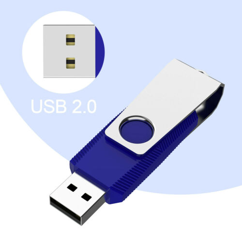 8GB Blue LOT 10 20 50 100 Anti-Skid Thumb Pen Flash Drives Memory Sticks Storage