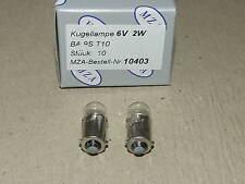2x Kugellampe/Glühlampe 6V 2W BA9s DKW,Simson,BK,AWO,EMW,BMW,NSU,IFA,RT