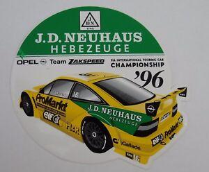Fan.aufkleber Opel Team Zakspeed Alzen per Market Calibra Itcc 1996 Tours