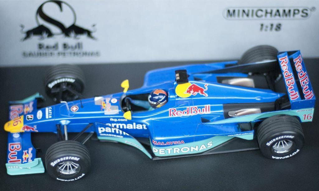 1 18 F1 C19 rosso Bull Sauber Petronas Pedro Diniz por Minichamps 180000016