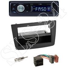 CALIBER rmd021 USB/Micro-SD RADIO + ALFA MITO (955) 2-din MASCHERINA BLACK + ISO-Set