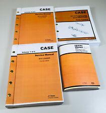 Case W 14 W14 Wheel Front Loader Service Parts Operators Manuals Repair Shop Set
