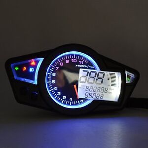 lcd digital odometer speedometer tachometer motorcycle for all