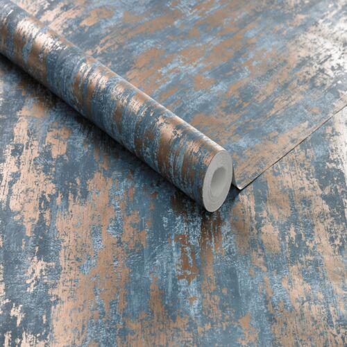 Boutique Turqouise Industrail Texture Wallpaper