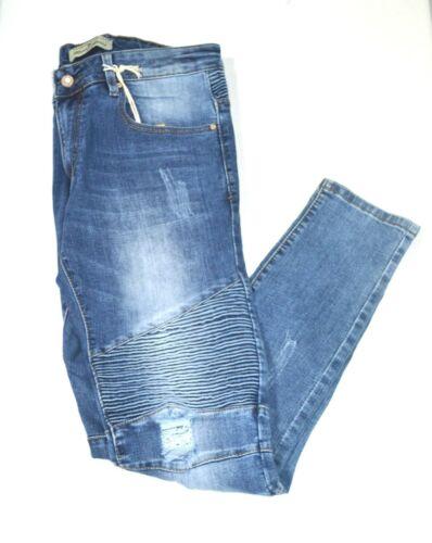 BRUNO LEONI Designer Jeans Biker Style VIP Pant  Cool Must Have Slim Fit