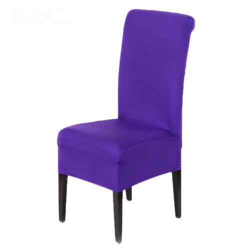 4x Housse Chaise Couverture Elastique Salle Manger Tabouret Fauteuil Mariage NF