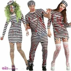 Adult-Mens-Ladies-Zombie-Convict-Costumes-Halloween-Prisoner-Jail-Fancy-Dress