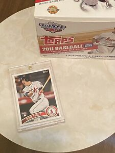 MIKE-TROUT-2011-Topps-Update-Rookie-Card-RC-Logo-Angels-ROY-MVP-Original-Glossy