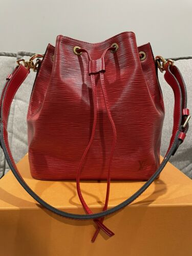 Louis Vuitton Petit Noe Epi Red Vintage