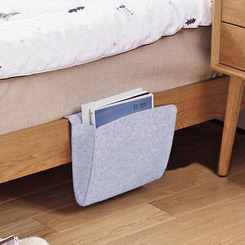 Felt Bedside Hanging Storage Bag Pocket Bed Organizer Holder Container Box L