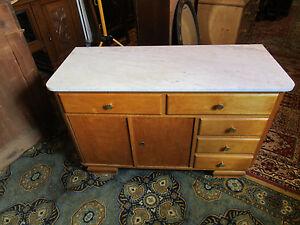 Shabby Chic Kommode Waschtisch Mobel Mit Marmorplatte 50 Iger Jahre