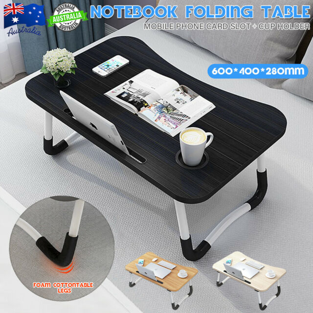 Foldable Adjustable Laptop Stand Desk Lap Bed Table Tray Sofa Computer Portable