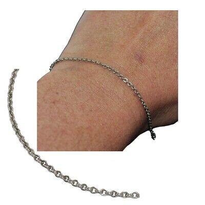 Apprensivo Bracelet Chaîne Fine En Argent Massif 925 Maille Jaseron 19cm Bijou