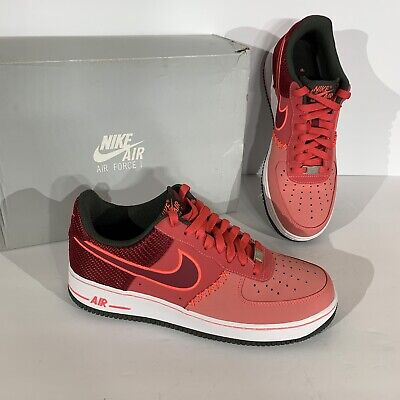 Nike Air Force 1 Low Fusion Red Atomic Red Noble Red 488298 611 Size 9.5   eBay