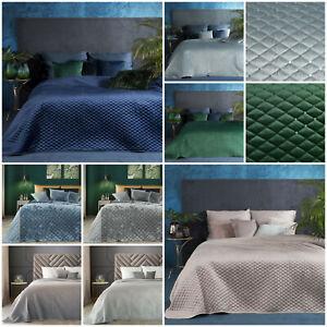 Bettüberwurf Für Doppelbett.Samt Tagesdecke Bettuberwurf Steppdecke Doppelbett Steppung