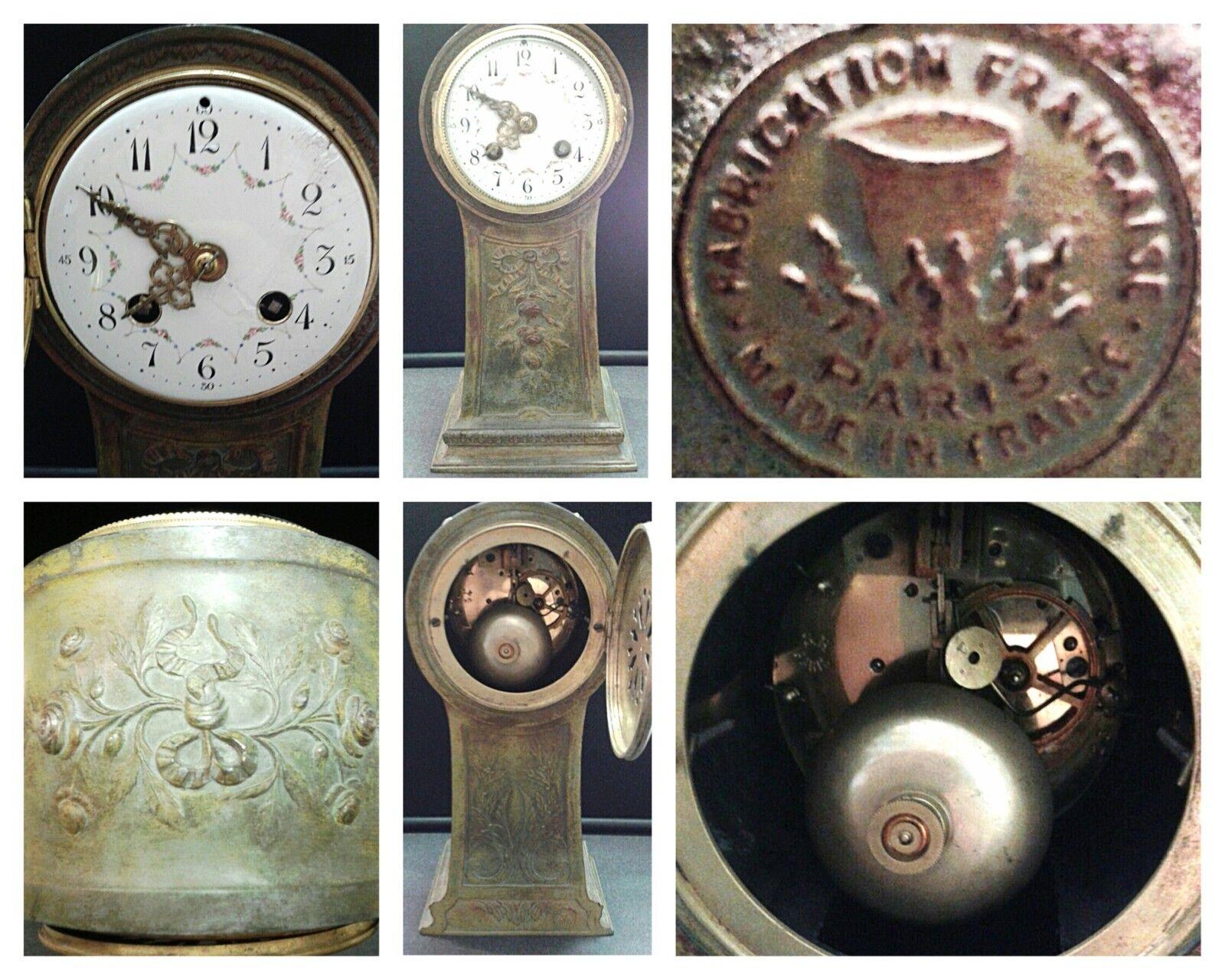 Antike Tischuhr Uhr Standduhr 1855 Paris Frankreich