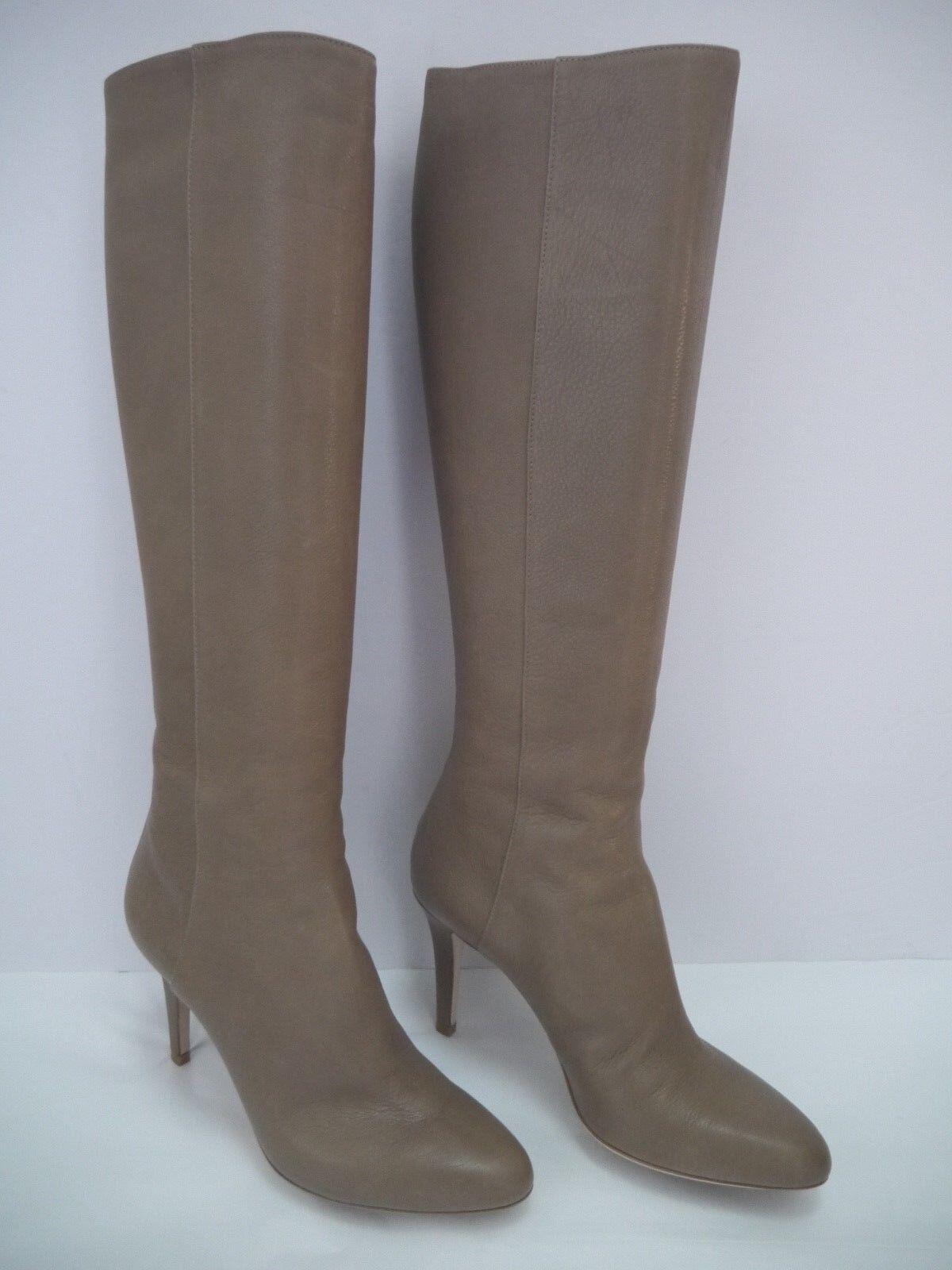 Nuova lista NEW JIMMY CHOO CHOO CHOO  1125 Grand taupe leather knee high heeled stivali Italian Dimensione 37  Spedizione gratuita al 100%
