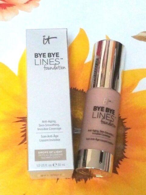 "IT Cosmetics ""BYE BYE LINES FOUNDATION""- LIGHT - Full Size- 1.0 fl.oz.-NIB"
