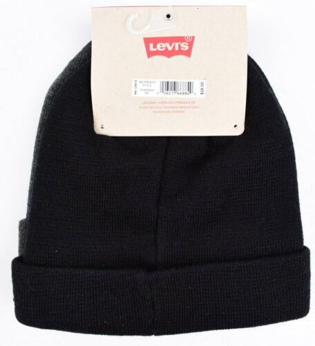 Charcoal//Black LEVI/'S 2-pack Super Warm Knitted Foldover Beanie Hat