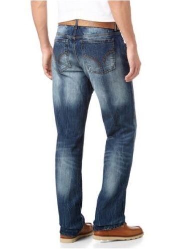 Usato Blu Dritto Pantaloni Denim Kurz 28 Arizona Nuovo Uomo Jeans 29 L30 gr 30 8Panpvqxw