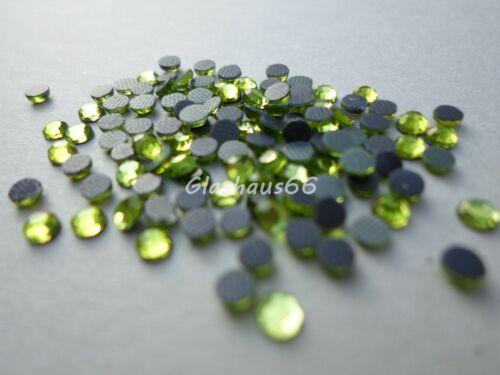 *Olivine//Olivgrün* SS10 ~ 2,8-3mm Super Qualität 1000 Hotfix Strasssteine
