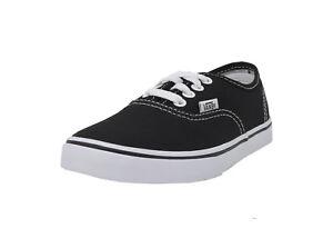 Details about VANS Authentic Lo Pro Black White Lace Up Kid Sneakers Canvas Boy Girl Shoes