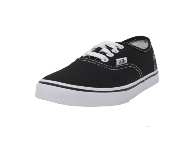 37381ead4c0 VANS Authentic Lo Pro Black White Lace Up Kid Sneakers Canvas Boy Girl Shoes