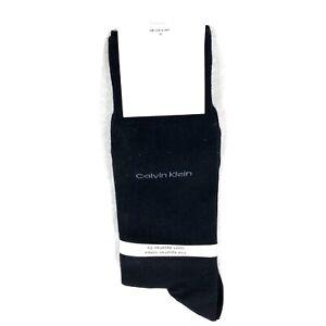 Calvin Klein Men's Socks Black Cotton Logo Brand Shoe Size 7-12 NWT